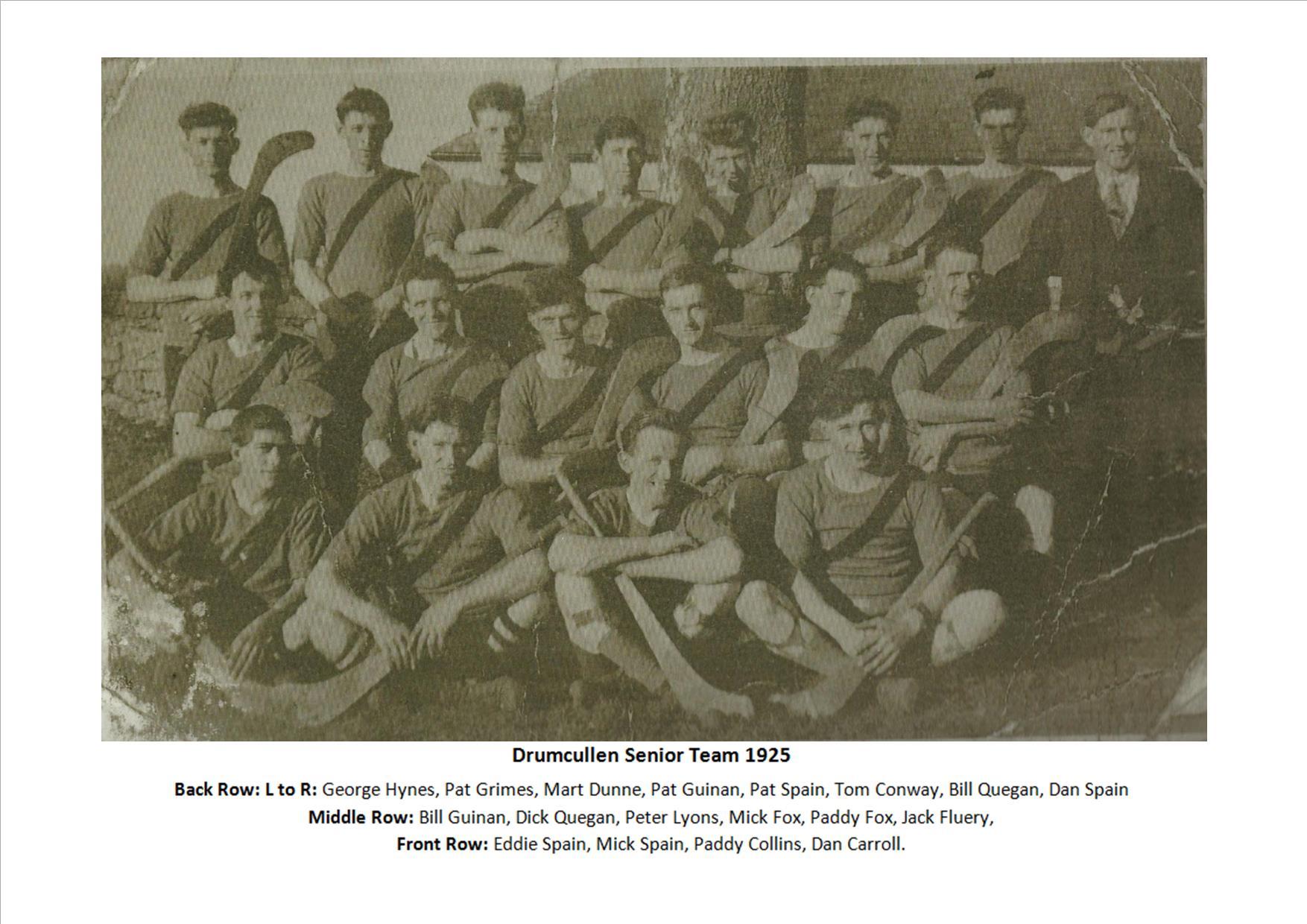 Drumcullen Senior Team - 1925