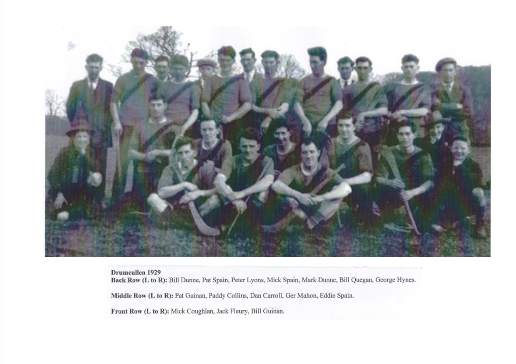 Drumcullen Team - 1929