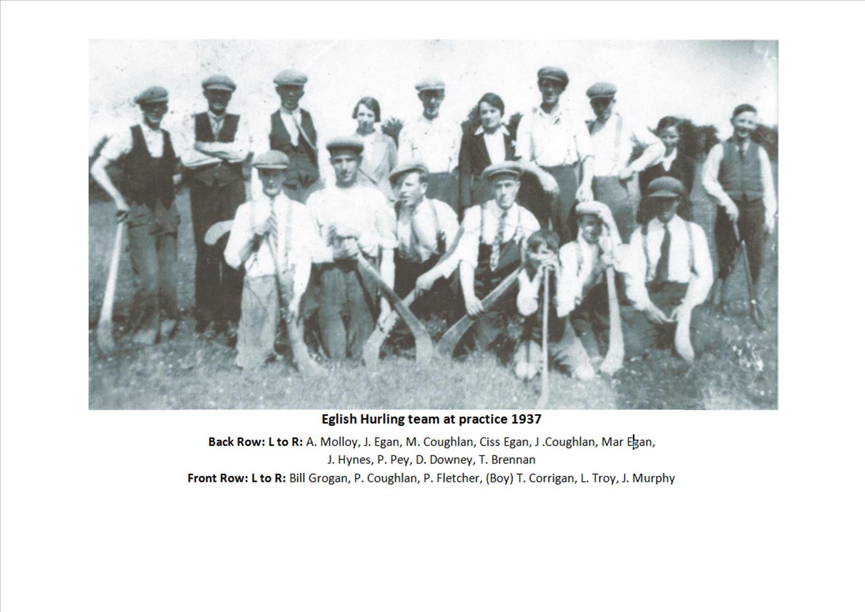 Eglish Team 1937
