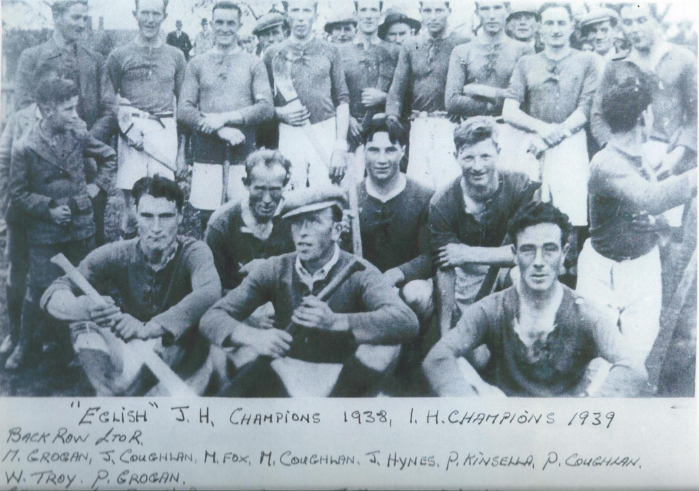 Eglish Junior & Intermediate Teams 1938 & 1939