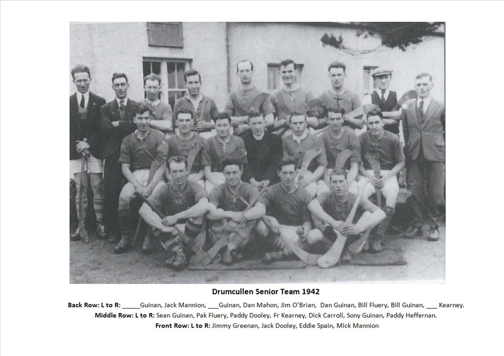 Drumcullen Senior Team - 1942