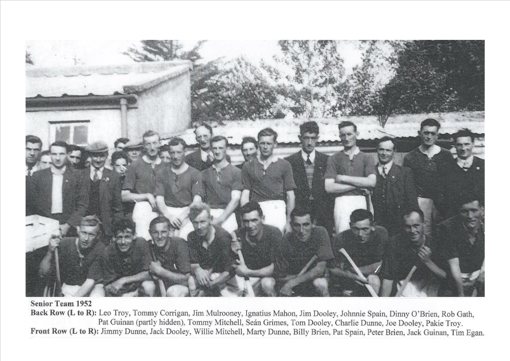 Drumcullen Senior Team - 1952