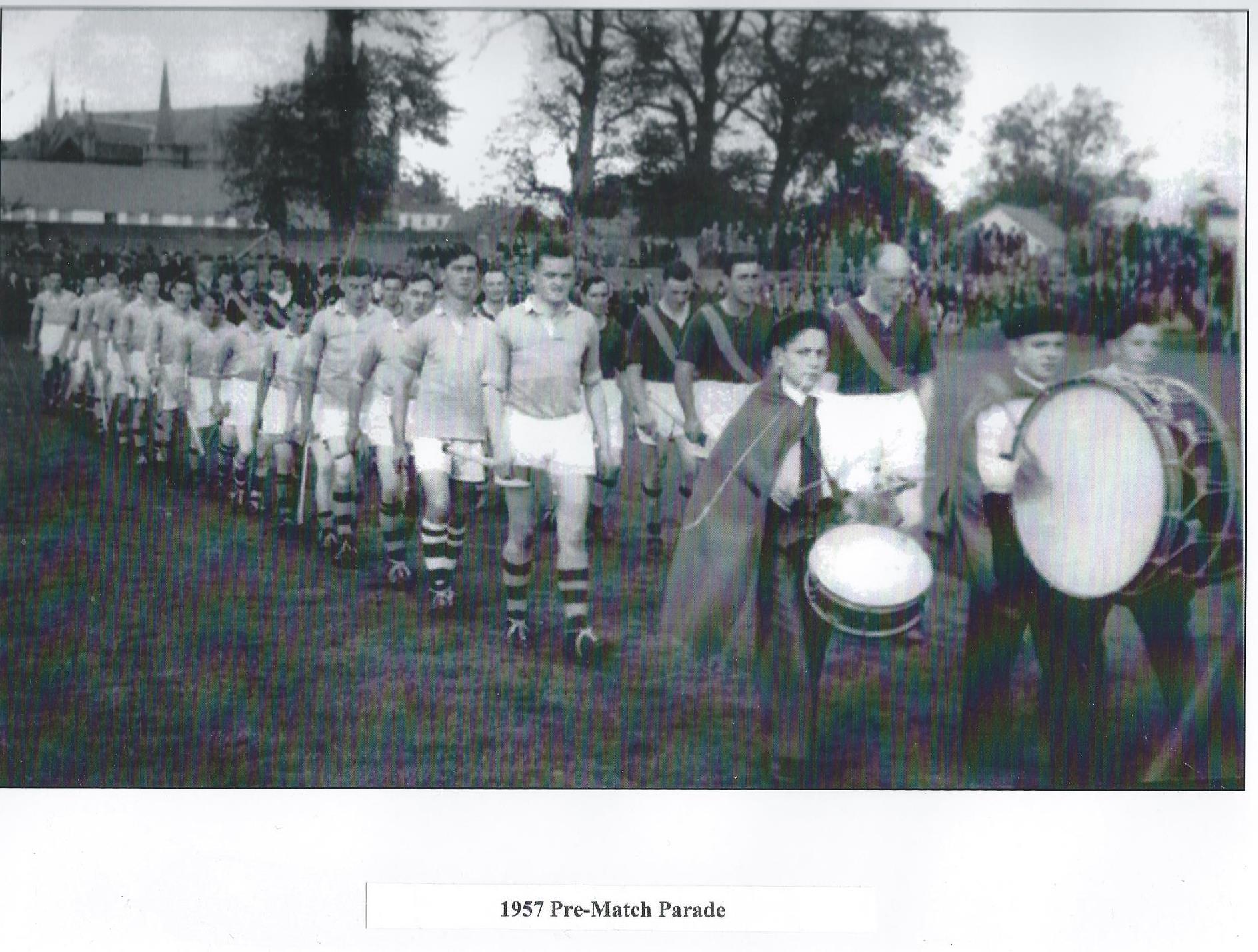1957 Pre-match Parade