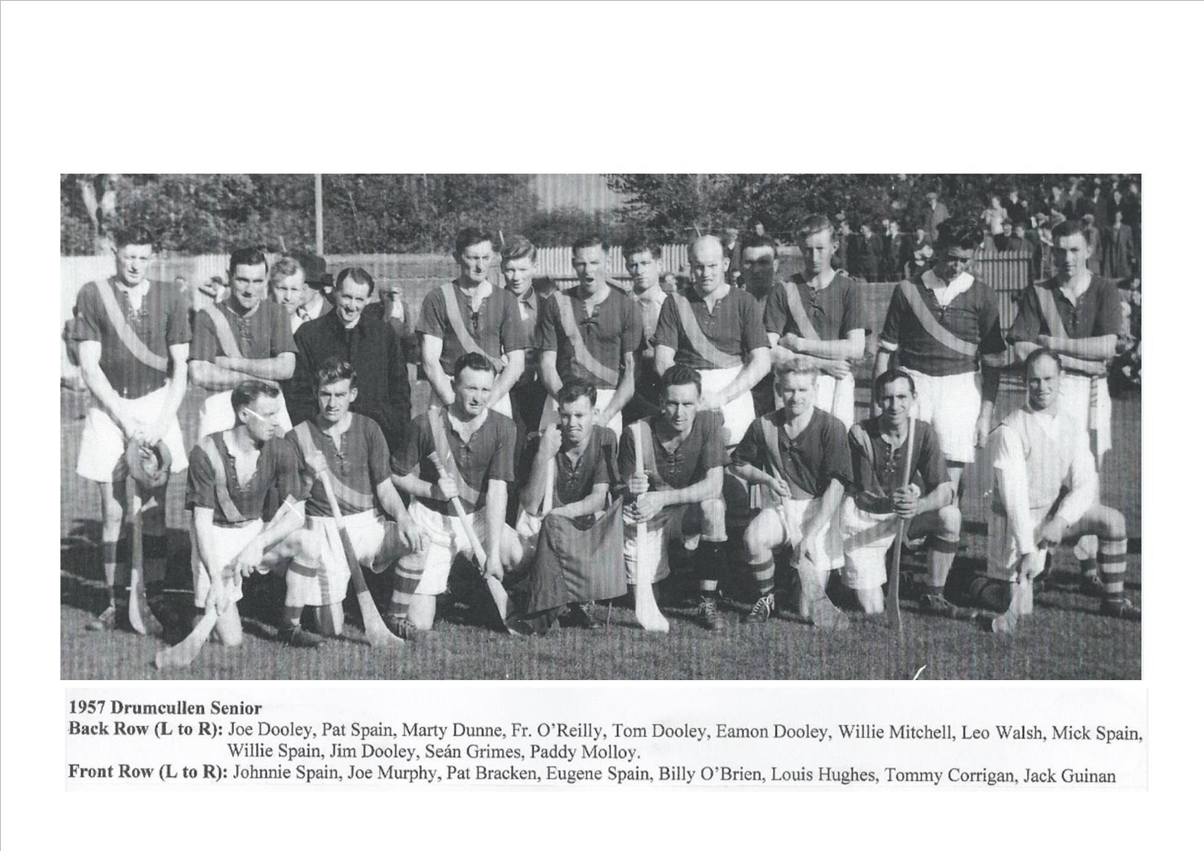 Drumcullen Senior Team - 1957