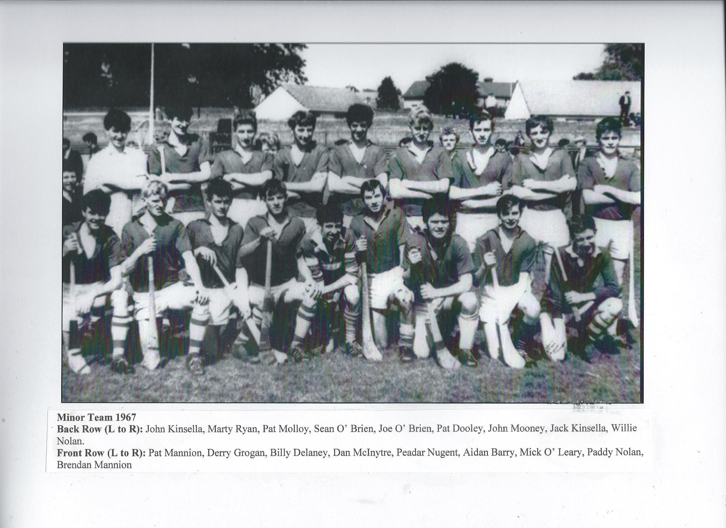 Drumcullen Minor Team - 1967