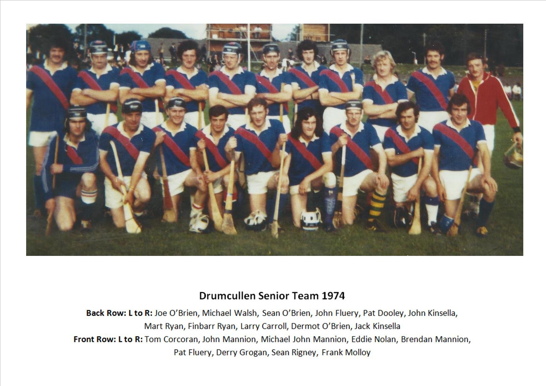 Drumcullen Senior Team - 1974