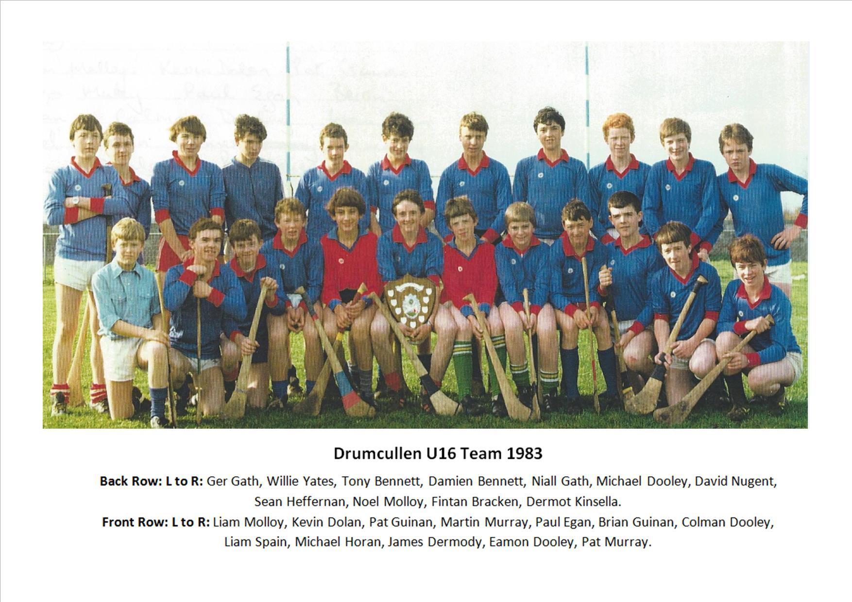 Drumcullen U16 Team 1983