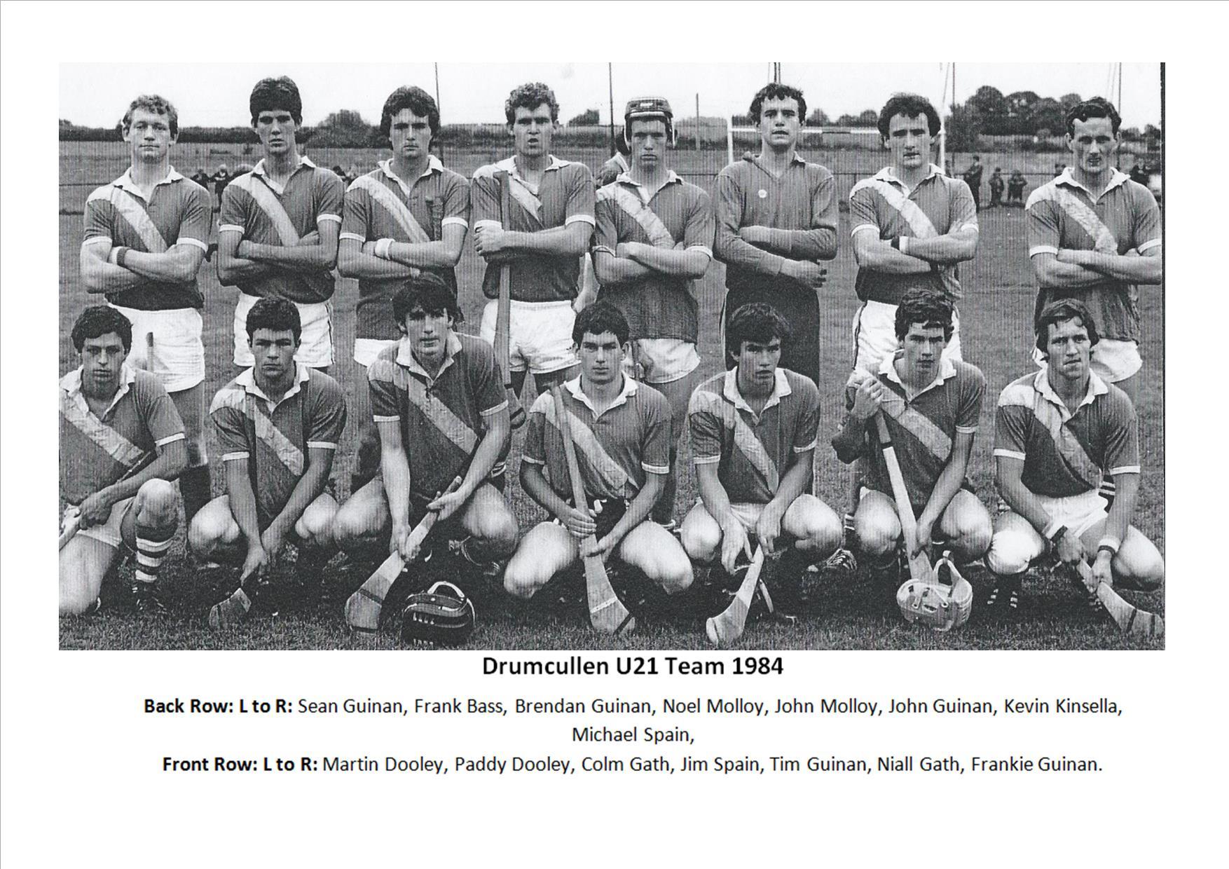 Drumcullen U21 Team 1984