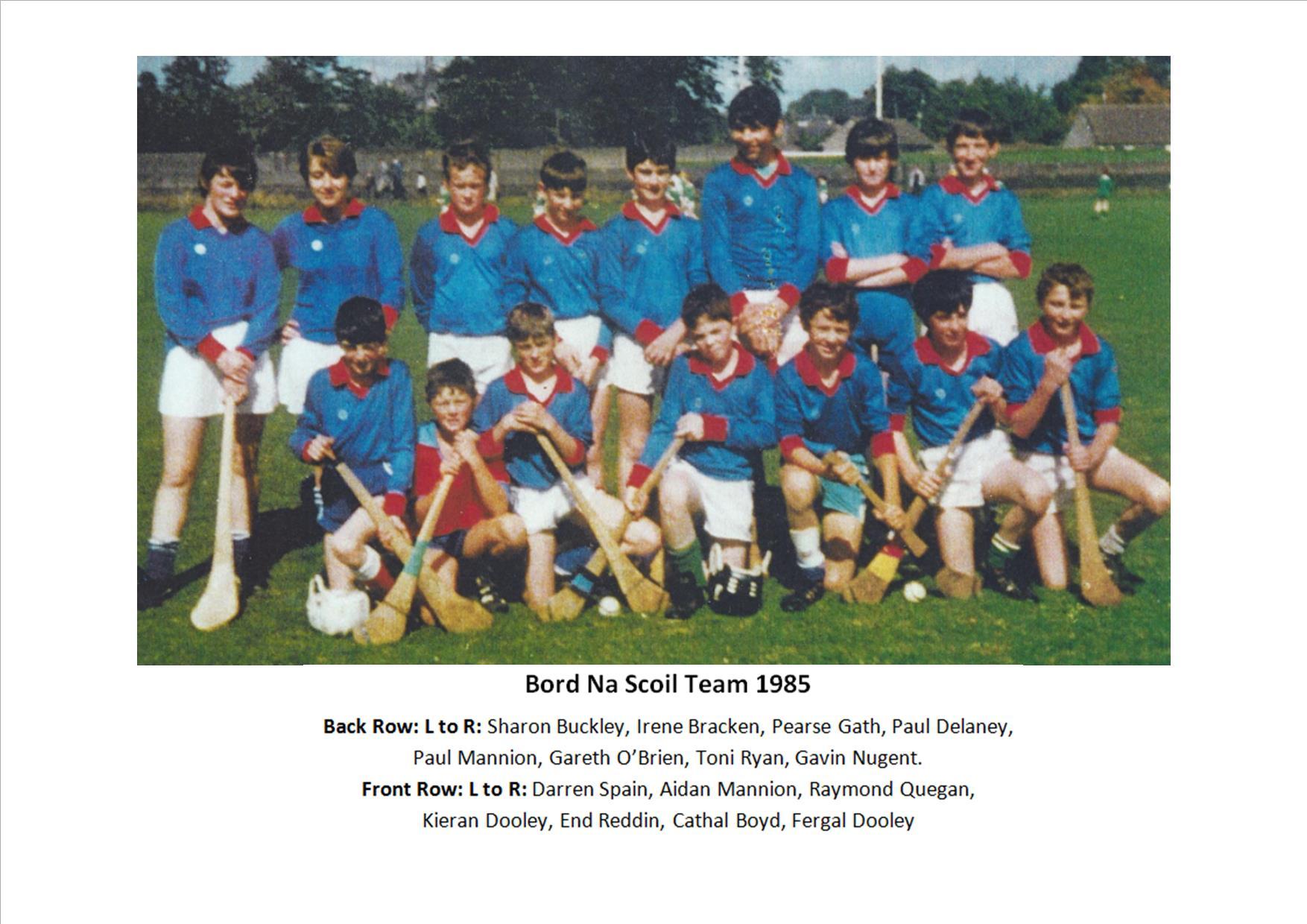 Bord Na Scoil Team - 1985