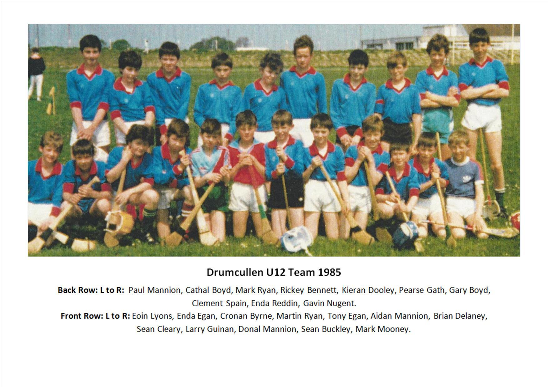 Drumcullen U12 Team - 1985